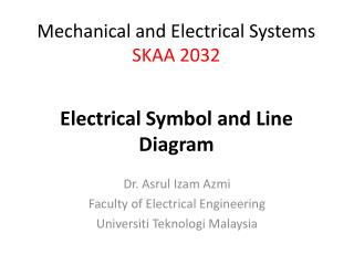 Dr.  Asrul Izam Azmi Faculty of Electrical Engineering Universiti Teknologi  Malaysia