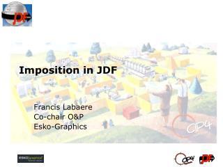 Imposition in JDF
