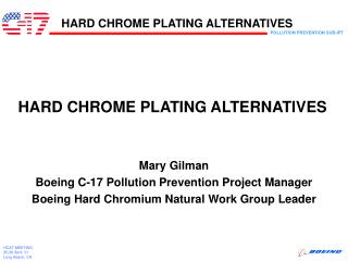 HARD CHROME PLATING ALTERNATIVES