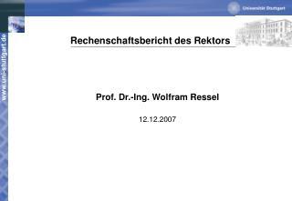 Rechenschaftsbericht des Rektors