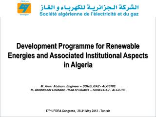17 th  UPDEA Congress,  28-31 May 2012 - Tunisia