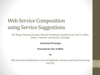 Web Service Composition  using Service  Suggestions