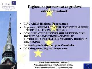 Regionalna partnerstva za gradove interkulturalnosti