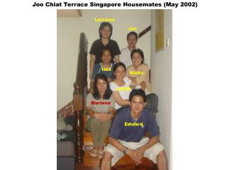 Joo Chiat Terrace Singapore Housemates (May 2002)