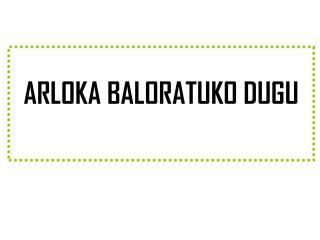 ARLOKA BALORATUKO DUGU