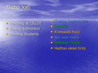 Tlicho Yati