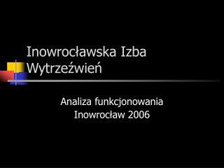 Inowrocławska Izba Wytrzeźwień