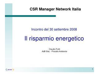CSR Manager Network Italia