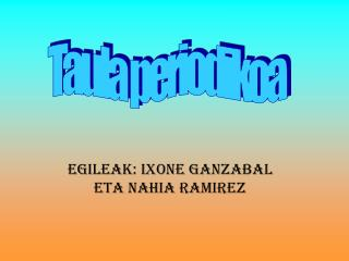 Egileak: Ixone Ganzabal eta Nahia Ramirez