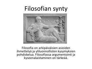Filosofian synty