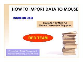 HOW TO IMPORT DATA TO MOUSE