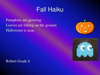 Fall Haiku