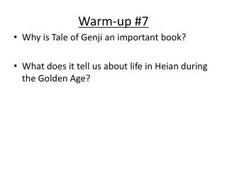 Warm-up #7