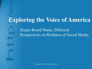 Exploring the Voice of America