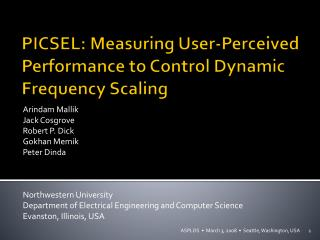 PICSEL: Measuring User-Perceived Performance to Control Dynamic Frequency Scaling