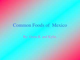 Common Foods of  Mexico