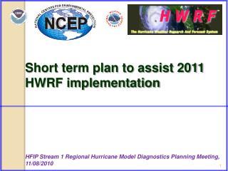 Short term plan to assist 2011 HWRF implementation