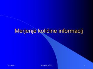 Merjenje količine informacij