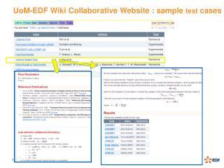 UoM-EDF Wiki Collaborative Website : sample  test  cases