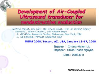 Development of Air-Coupled Ultrasound transducer for nondestructive evaluation