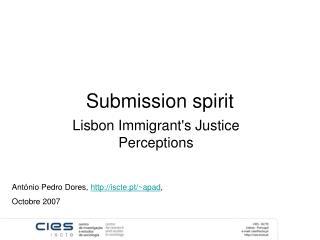 Submission spirit