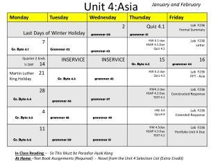 Unit 4:Asia
