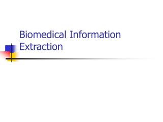Biomedical Information Extraction