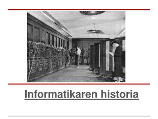 Informatikaren historia