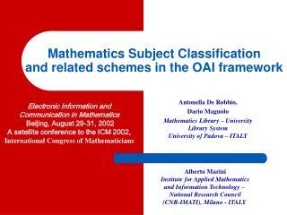 Mathematics Subject Classification