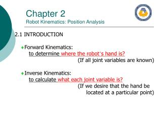 Chapter 2 Robot Kinematics: Position Analysis