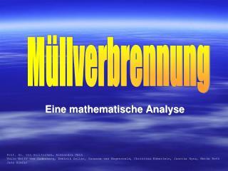 Eine mathematische Analyse