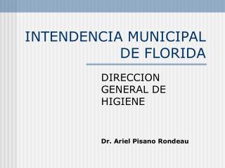 INTENDENCIA MUNICIPAL DE FLORIDA