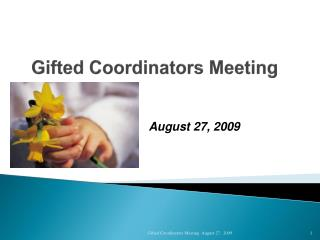 Gifted Coordinators Meeting