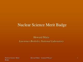 Nuclear Science Merit Badge