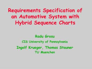 Requirements Specification of an Automotive System with Hybrid Sequence Charts
