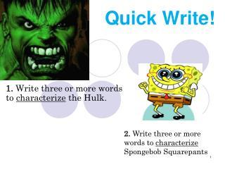 Quick Write!