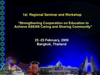 1st  Regional Seminar and Workshop