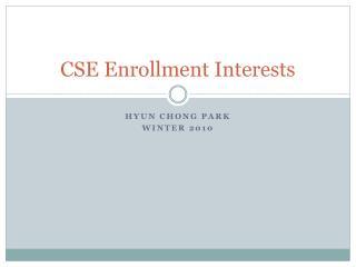 CSE Enrollment Interests
