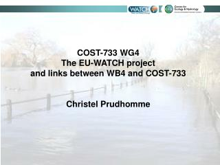 COST-733 WG4  The EU-WATCH project  and links between WB4 and COST-733 Christel Prudhomme