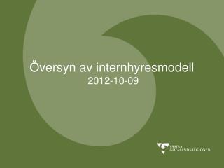 Översyn av internhyresmodell  2012-10-09