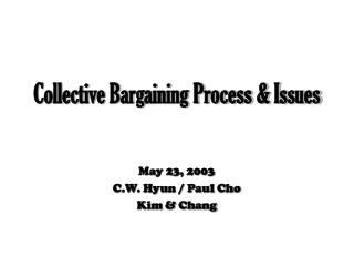 Collective Bargaining Process & Issues