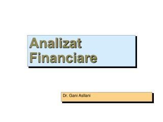 Analizat Financiare