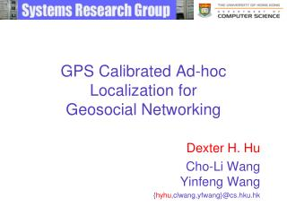 GPS Calibrated Ad-hoc Localization for Geosocial Networking
