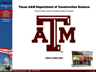 Texas  A&M  Department of Construction  Science