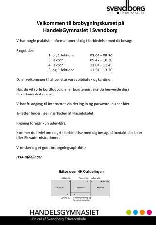Velkommen til brobygningskurset på HandelsGymnasiet i Svendborg