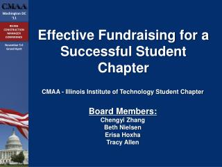 Effective Fundraising for a Successful Student Chapter