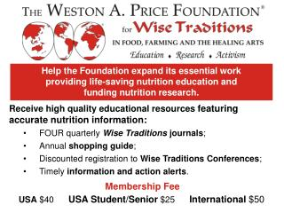 FOUR quarterly  Wise Traditions  journals ; Annual  shopping guide ;