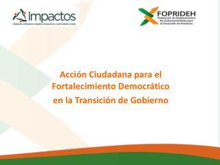 Acción Ciudadana para el Fortalecimiento Democrático  en la Transición de Gobierno