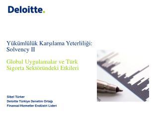 Sibel Türker Deloitte Türkiye Denetim Ortağı Finansal Hizmetler Endüstri Lideri