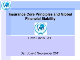 Insurance Core Principles and Global Financial Stability